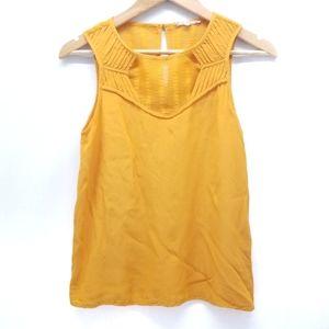 41Hawthorn Stitch Fix Silk Blend Top in Mustard